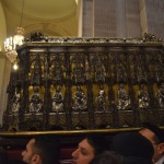 The reliquary of Saint Agatha is carried by the devotees during the festival in Catania.