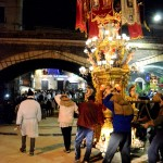 Candelora at the final part of the procession on the 5th February during the Saint Agatha festival in Catania.
