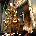 Bakers candelora in Via Umberto before the Saint Agatha festival in Catania.