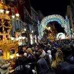 Candelora of the Rinoti in Via Etnea before teh saint Agatha festival in Catania.