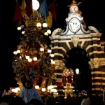 "Candeloras at ""Fortino"" at 2:00 a.m. in the night on 5th February during the Saint Agatha festival. Bakers candelora."
