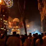 Candeloras in Via Plebiscito on the 4th February during the Saint Agatha festival in Catania.