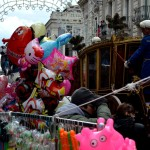 Mayors carriage with ballons all around, on the 3rd February during the Saint Agatha festival in Catania