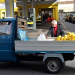 Citron seller. This fruit is typical for the period of the Saint Agatha festival in Catania.