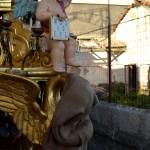 Detail of the Rinoti candelora (quarter of San Giuseppe la Rena). Before the Saint Agatha festival.
