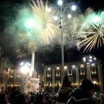 Fireworks on the 12th February - the end of the Saint Agatha festival in Catania.