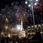 Fireworks on the 12th February, the very end of the Saint Agatha festival in Catania.