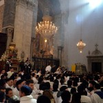 Inside the cathedral in Catania at the end of the Saint Agatha festival on the 6th February