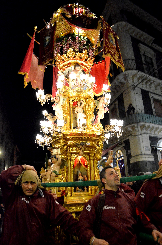 6° La candelora dei macellai durante la festa di Sant'Agata a Catania