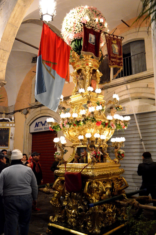 8° La candelora dei pizzicagnoli durante la festa di Sant'Agata a Catania