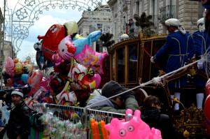 La carozza del sentato durante la festa di Sant'Agata il 3 febbraio