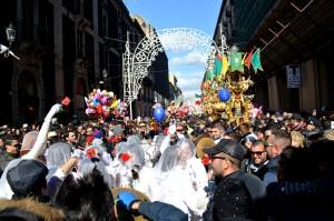 L'allegria durante la festa di Sant'Agata il 3 febbraio