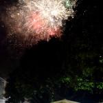 Fuochi d'artificio in piazza Palestro alle 2:30 il 5 febbraio durante la festa di Sant'Agata