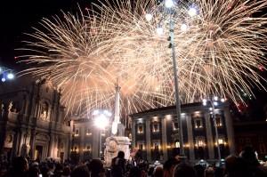I fuochi d'artificio all'ottava il 12 febbraio - conclusione della festa di Sant'Agata