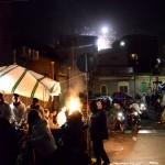 Fuochi e fuochi a San Cristoforo la notte fra il 4 e il 5 febbraio durante la festa di Sant'Agata