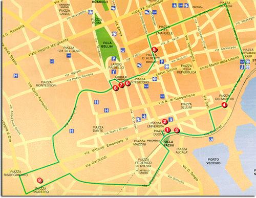 Il percorso della processione del 4 febbraio