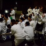 Preghiera nel cordone durante la festa di Sant'Agata la notte fra il 4 e il 5 febbraio