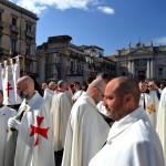 Preparativi per la processione dell'offerta di cera il 3 febbraioPreparativi per la processione dell'offerta di cera il 3 febbraio durante la festa di Sant'Agata a Catania