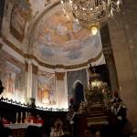 L'abside normanna dentro la cattedrale di Catania durante la festa di sant'Agata