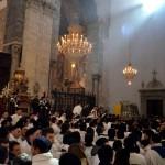 Il scrigno è riportato nella cameretta dentro la cattedrale di Catania durante la festa di sant'Agata