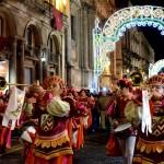 Trovatori durante le festività Agatine (l'ultima domenica prima dell'inizio dei giorni principali)